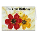 3 su su cumpleaños tarjeta