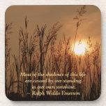 #3 Sun Wheat Field Personal Quote Cork Coas Drink Coaster