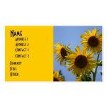 3 Sunflower Profile Card Business Cards