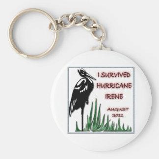 #3 Survived Hurricane Irene Basic Round Button Keychain