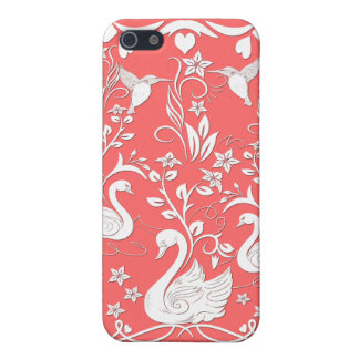 3 swans and hummingbirds white iPhone SE/5/5s cover