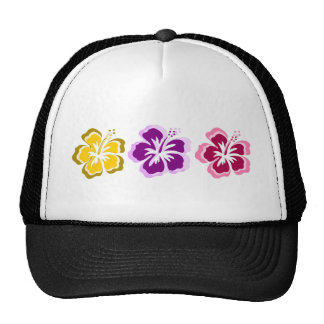 3 sweet flowers trucker hat
