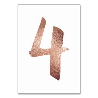 3 Table  Number White Metallic Pink Rose Gold Table Number