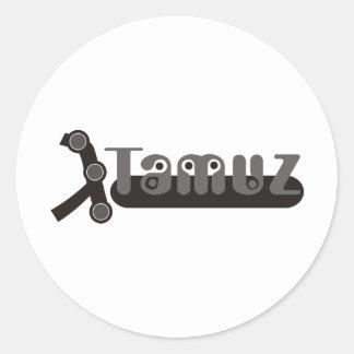3 tamuz classic round sticker