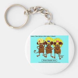 3 tarjetas y regalos divertidos de las tazas de la llavero personalizado