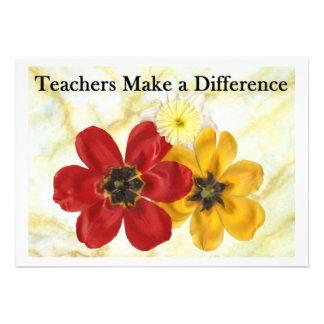3 Teachers Make a Difference Custom Announcement