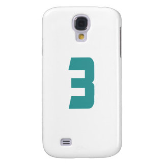 #3 Teal Bold Samsung Galaxy S4 Cover