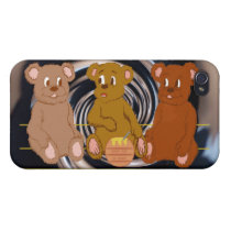 3 Teddies iPhone Case