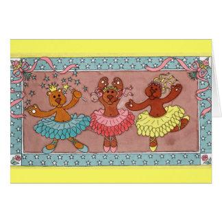 3 Teddy's Dancing Card