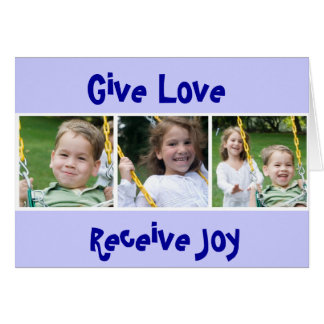 3 THOMASES, Give Love, Receive Joy Card