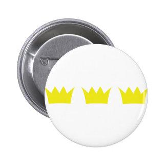 3 three king crowns 2 inch round button