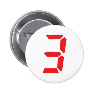 3 three red alarm clock digital number button