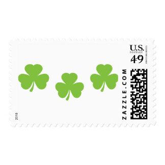 3 three shamrocks postage stamp