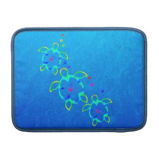 3 Tie Dyed Honu Turtles MacBook Sleeves