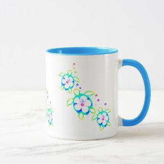 3 Tie Dyed Honu Turtles Mug