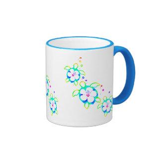 3 Tie Dyed Honu Turtles Ringer Coffee Mug