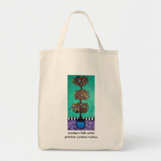 3 TIERED BLOOMS TOTE BAG