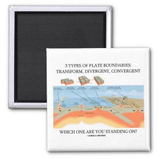 ¿3 tipos de límites de placa - en los cuales coloc imanes de nevera