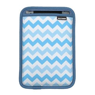 3 Tone Blue Zig Zag iPad Mini Sleeve
