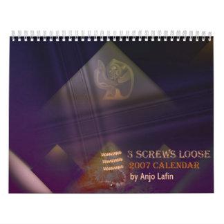 3 tornillos sueltan el calendario 2007 de Anjo Laf
