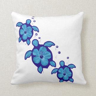 3 tortugas azules de Honu Cojín