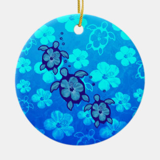 3 tortugas azules de Honu Ornamento Para Arbol De Navidad