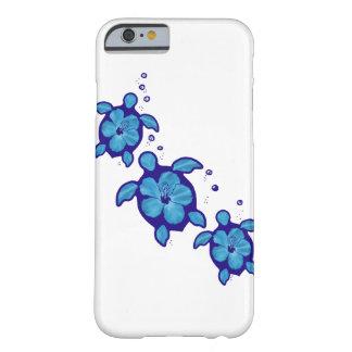 3 tortugas azules de Honu Funda De iPhone 6 Barely There