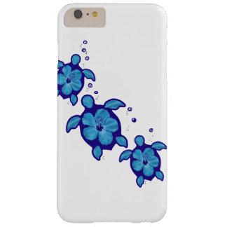 3 tortugas azules de Honu Funda Para iPhone 6 Plus Barely There