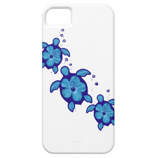 3 tortugas azules de Honu Funda Para iPhone SE/5/5s