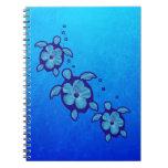 3 tortugas azules de Honu Libro De Apuntes Con Espiral