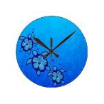 3 tortugas azules de Honu Reloj