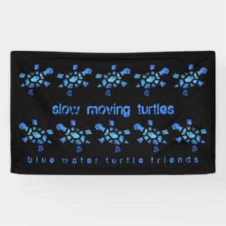 3' tortugas de movimiento lento del agua azul de lona