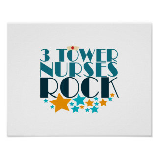 3 Tower Nurses Rock Poster