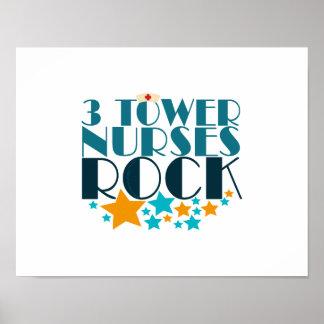 3 Tower Nurses Rock Poster