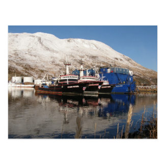 3 Trawlers at the Icicle Barge Post Card