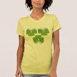 3 tréboles afortunados florales camisetas