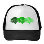3 Trees Silhouette Mesh Hat