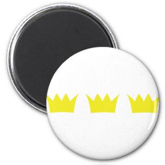 3 tres coronas del rey imán redondo 5 cm