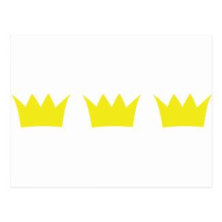3 tres coronas del rey tarjeta postal