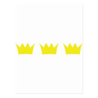 3 tres coronas del rey tarjetas postales