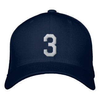 3 tres gorra de beisbol bordada