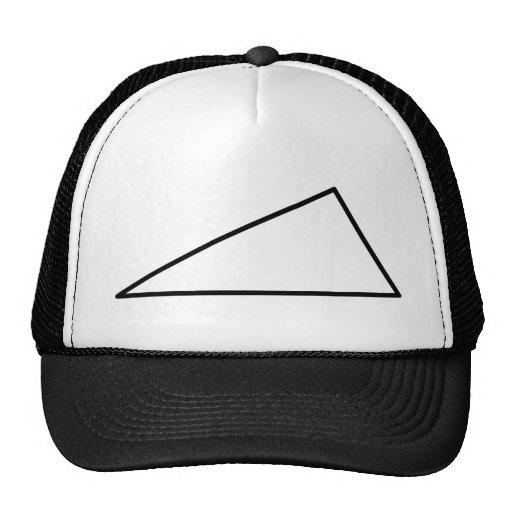 3 triangle trucker hat