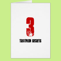 3 Triathlon Secrets - Good Luck Triathlete Card
