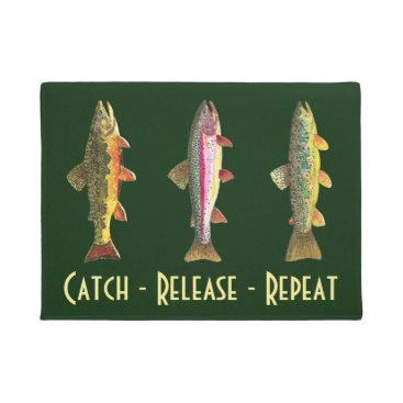 Professional Business 3 Trout Fishing Home, Office, Business Decor Doormat