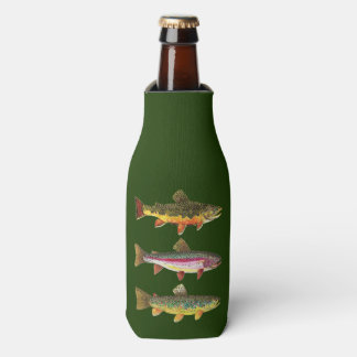 3 Trout for a Fisherman or Ichthyologist Bottle Cooler