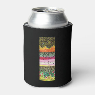 3 Trout Skins: Brook, Rainbow, Brown - Fly Fishing Can Cooler