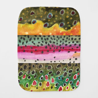 3 Trout Skins for Fishing Ichthyology Fans - Baby Burp Cloth