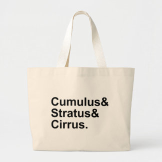 3 Types of Cloud Formation Cumulus Stratus Cirrus Large Tote Bag