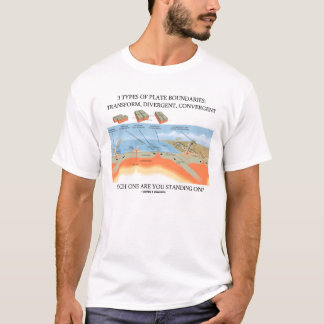 3 Types of Plate Boundaries (Plate Tectonics) T-Shirt