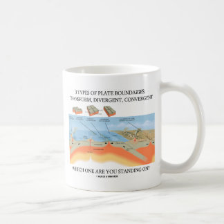 3 Types Of Plate Boundaries - Which Standing On? Coffee Mug